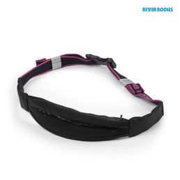 Better Bodies Zip Belt, black/pink